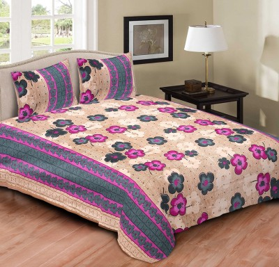 Tripods Fashion Cotton Printed Double Bedsheet