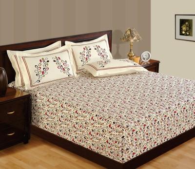 WG Fabs Cotton Plain Queen sized Double Bedsheet