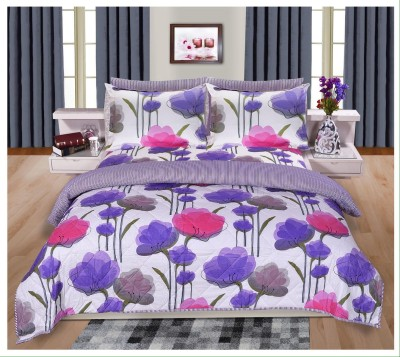 Shayan Cotton Floral King sized Double Bedsheet