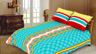 Blush Cotton Checkered Double Bedsheet