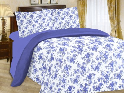 Enaakshi Cotton Floral Double Bedsheet