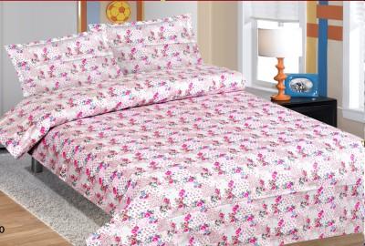 Double A Creation Cotton Floral Single Bedsheet