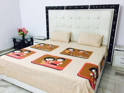 Reliable Trends Cotton Cartoon Double Bedsheet