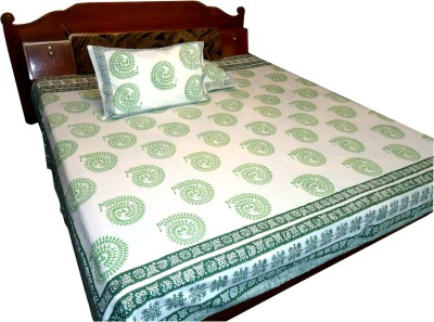 Jaipur Art and Craft Cotton Floral Double Bedsheet