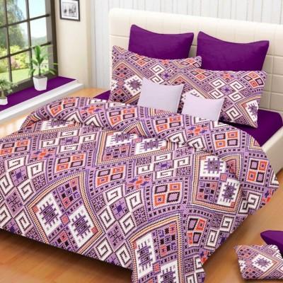Geometric Cotton Geometric Double Bedsheet