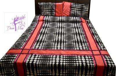 Decor Muse Cotton, Velvet Polka King sized Double Bedsheet
