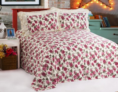 Jesia Cotton Floral King sized Double Bedsheet