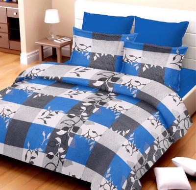 Kunal Cotton Checkered Double Bedsheet