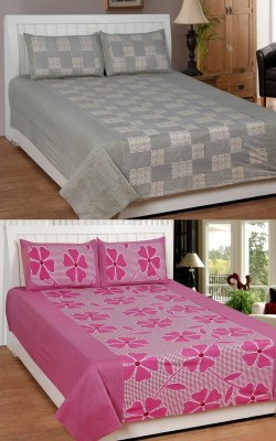 Elegance Cotton Abstract Double Bedsheet