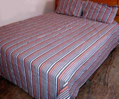 Thiya Fabric Cotton Striped Queen sized Double Bedsheet