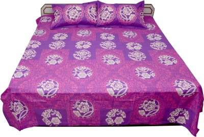 Ss Sales Cotton Printed Double Bedsheet