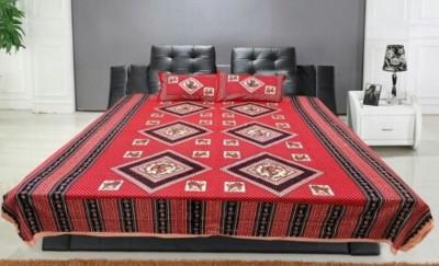 N decor Cotton Floral Single Bedsheet