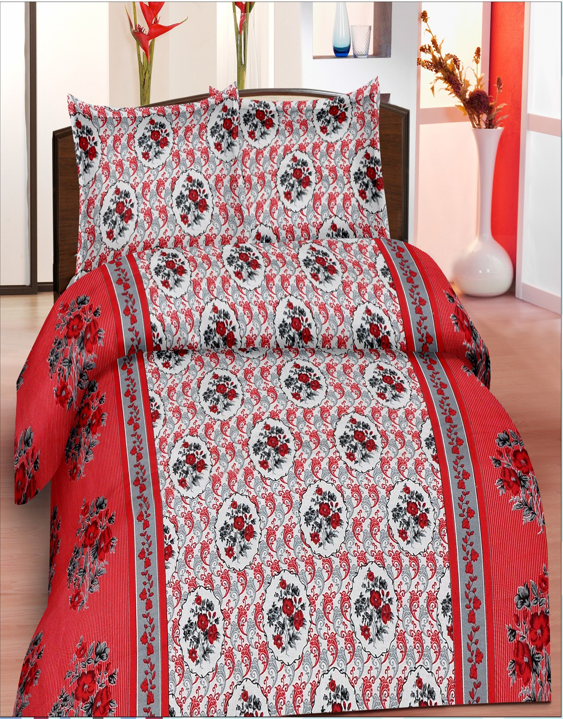 Koncepts Cotton Floral Double Bedsheet