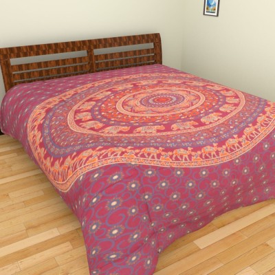 Purecomfort Cotton Floral Double Bedsheet