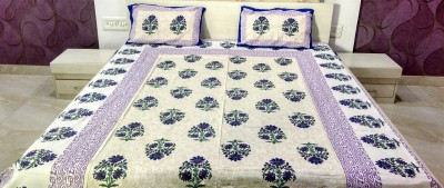MARUDHARA Cotton Floral Double Bedsheet