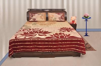 Sartaj Chennile Self Design Double Bedsheet