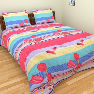 AXCELLENCE Polycotton 3D Printed King sized Double Bedsheet