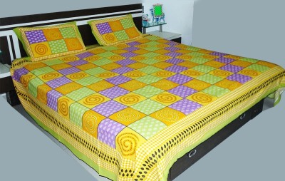 RK Raag Rang Cotton Printed King sized Double Bedsheet