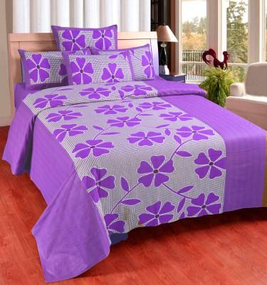 Zesture Cotton Floral Queen sized Double Bedsheet