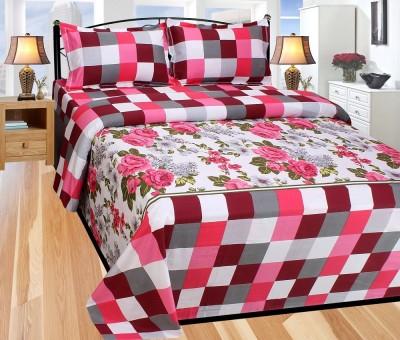 Excel Bazaar Cotton Floral Double Bedsheet