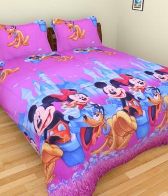 RK Polycotton Cartoon Double Bedsheet