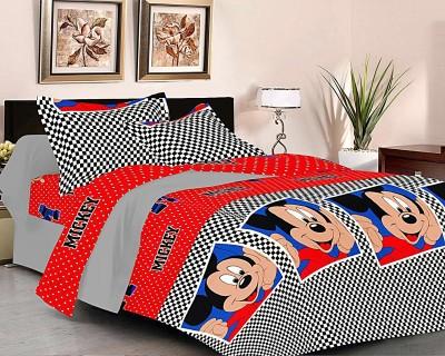 Factorywala Polycotton Cartoon King sized Double Bedsheet