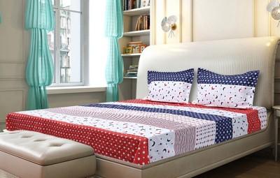Joie Cotton Linen Blend Striped Queen sized Double Bedsheet