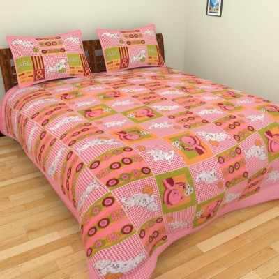 Narsinh Cotton Printed King sized Double Bedsheet
