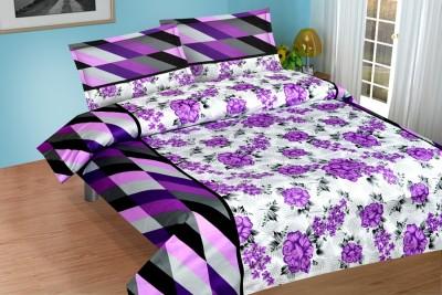 NH Cotton Goldstar Satin Printed Double Bedsheet