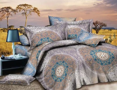 Zesture Polycotton Abstract Queen sized Double Bedsheet