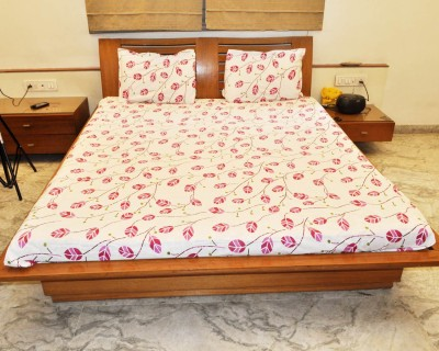 kentindia Cotton Floral Double Bedsheet
