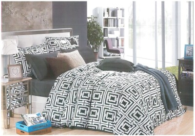Ross Luxury Living Cotton Checkered Double Bedsheet