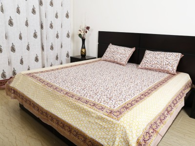 Ethnic Rajasthan Cotton Floral Double Bedsheet