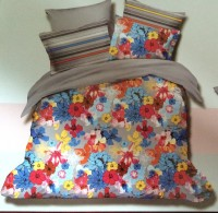 Blessed International Cotton Printed Queen sized Double Bedsheet(Bedsheet, Two Pillowcover, Multicolor)