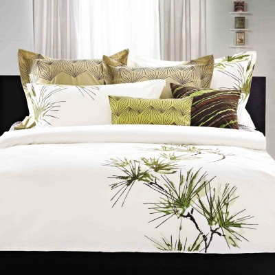 Maishaa Cotton Embroidered King sized Double Bedsheet