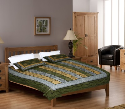 Glitter Cotton Abstract King sized Double Bedsheet