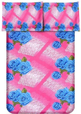 Bedsheet Zone Cotton Floral Queen sized Double Bedsheet