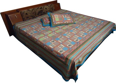 Jaipur Art and Craft Cotton Abstract Double Bedsheet