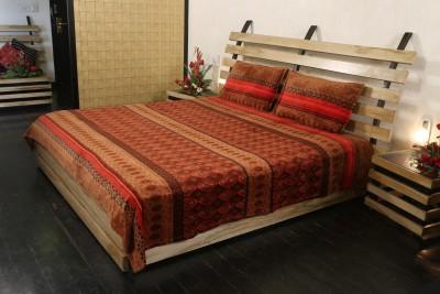 Adinath Polyester Abstract Single Bedsheet