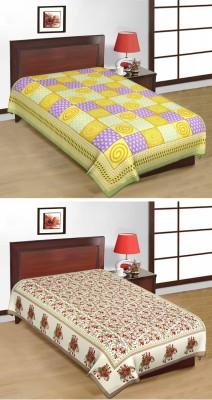 Shop Rajasthan Cotton Printed Single Bedsheet