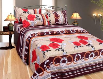Mirchi Polycotton Floral Double Bedsheet