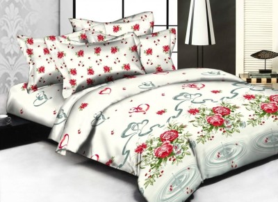 Weaves Cotton Abstract Double Bedsheet