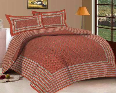 Viskar Fab Tex Cotton Motifs Queen sized Double Bedsheet