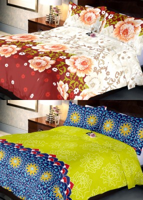 Indien Casa Cotton Abstract Queen sized Double Bedsheet
