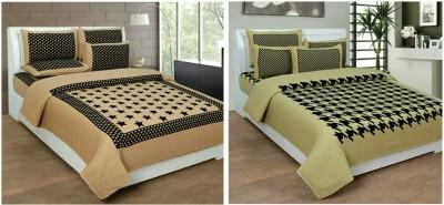 MR MACHROLI Chennile Abstract Double Bedsheet