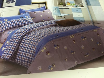 HanuEnterprises Polycotton Checkered Double Bedsheet