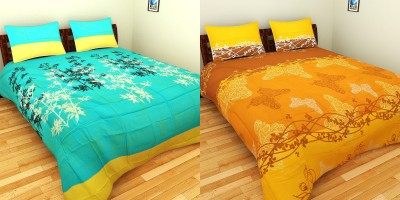 Splash Cotton Floral Double Bedsheet