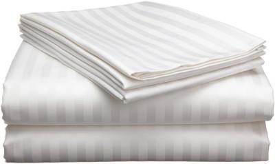 Viktoria Homes Cotton Striped Double Bedsheet