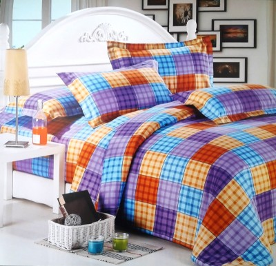 Reliable Cotton Checkered Double Bedsheet