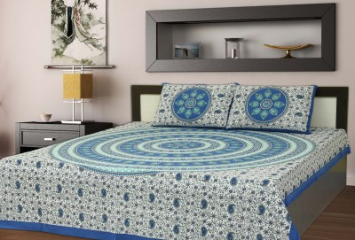 AD and Sons Cotton Printed Queen sized Double Bedsheet